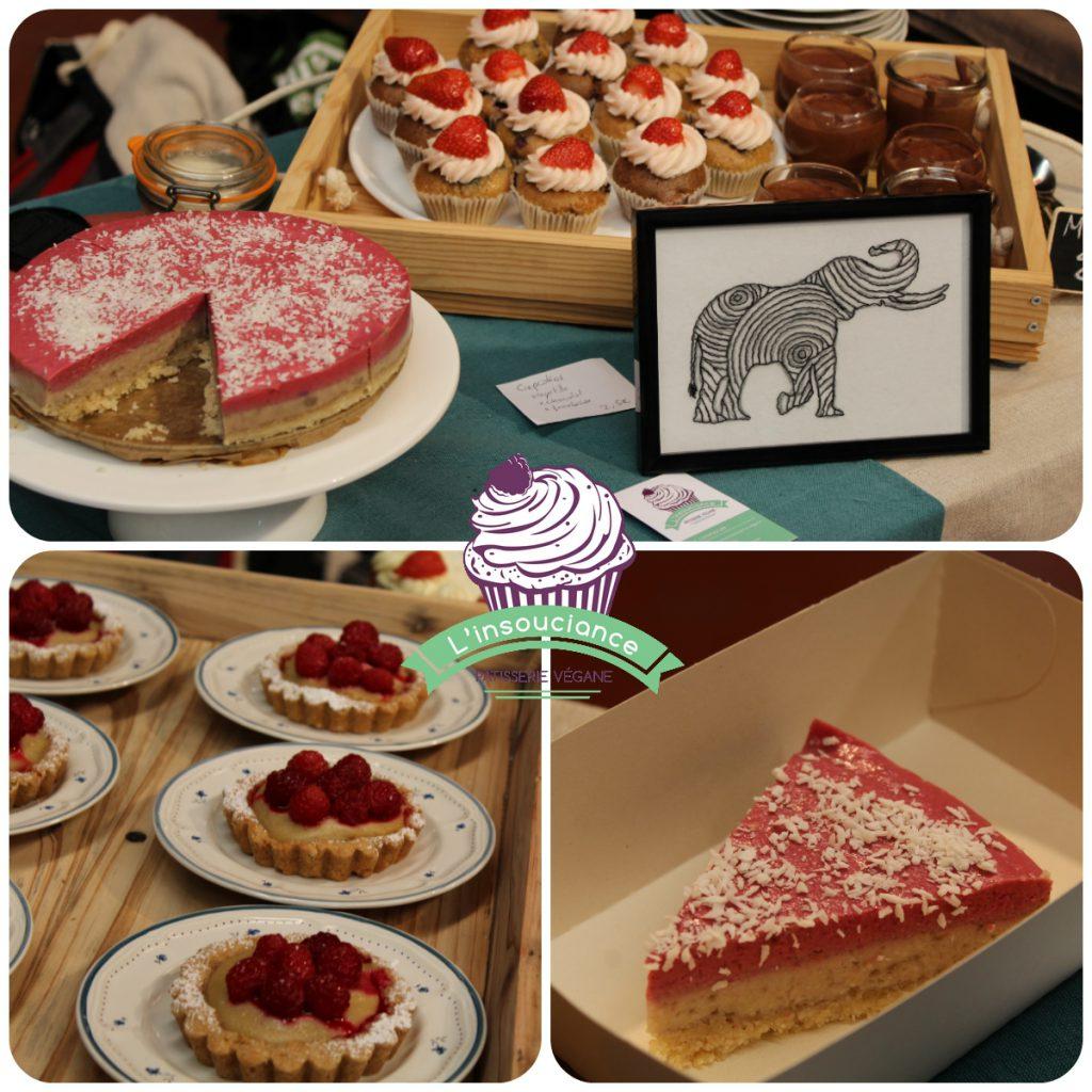 Pâtisseries : bavarois cru, cupcakes fraises, mousses au chocolat, tartelettes framboises
