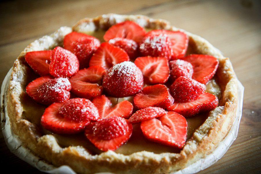Traditionnelle croûte aux fraises