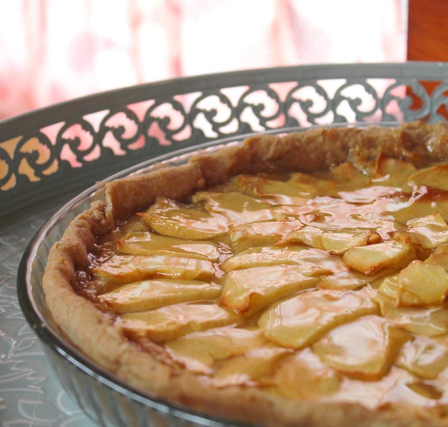 Tarte aux pommes et à la crème d'amandes